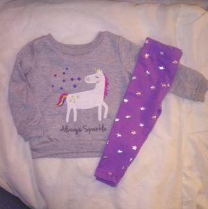 Unicorn 2Pc Outfit